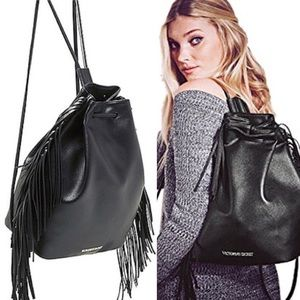 NWT VICTORIA'S SECRET fringed backpack